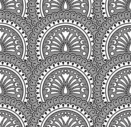 Black vector seamless wallpaper Stock Vector - 16505441