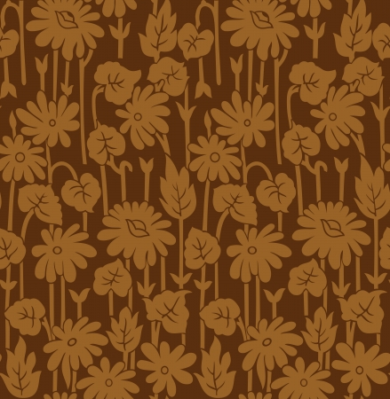 Abstract seamless flower wallpaper Vector