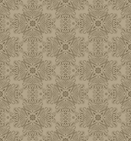 Seamless traditional vector wallpaper Vector