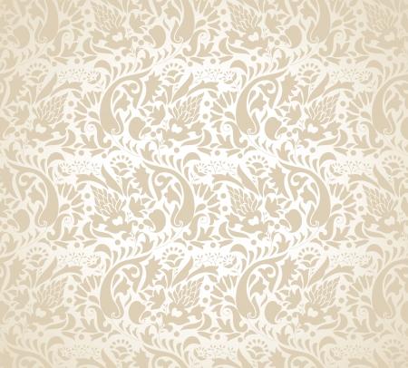 mustered: Paisley fondo para la tarjeta de boda Vectores