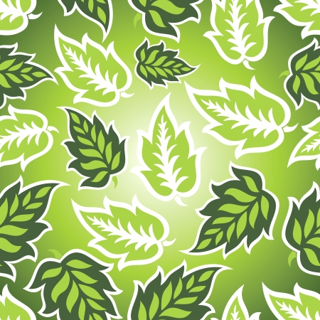 mustered: Seamless green leaves background