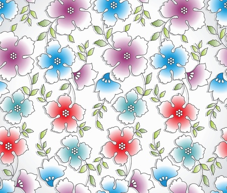 Seamless abstract flower background Stock Vector - 16801984