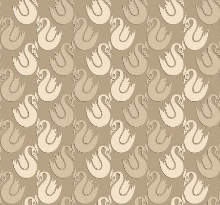 swans: Seamless wallpaper of swans