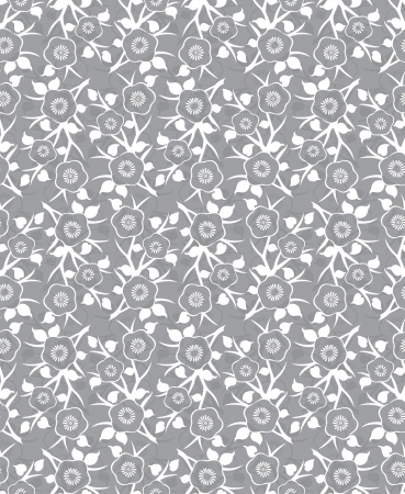 Silver seamless abstract flower background Vector