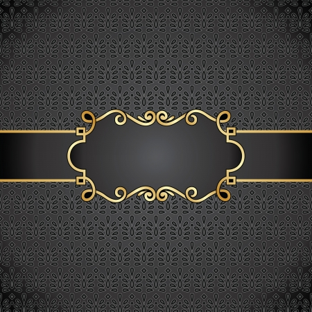 Royal black note book cover Vector