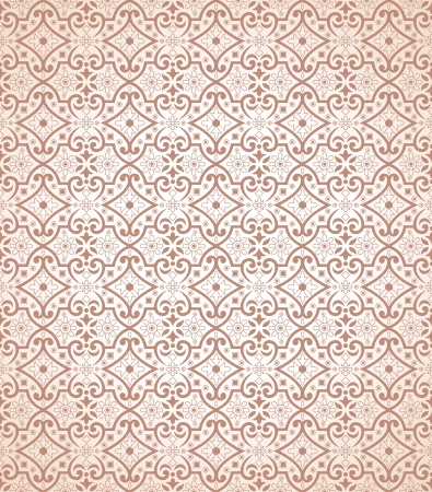 Seamless traditional wallpaper and background Vector