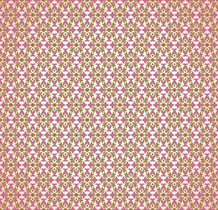 Seamless pink decorative wallpaper Vector