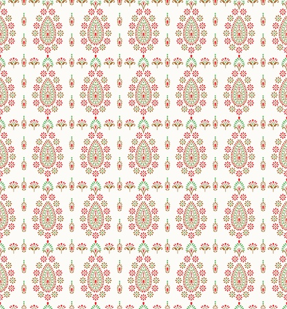 Seamless traditional paisley wallpaper and background Vector