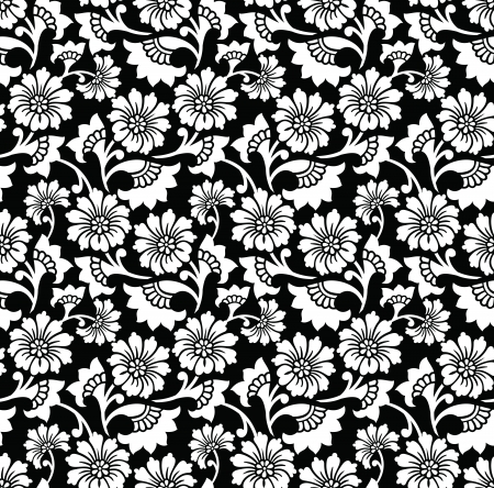 Seamless flower wallpaper and background Vector