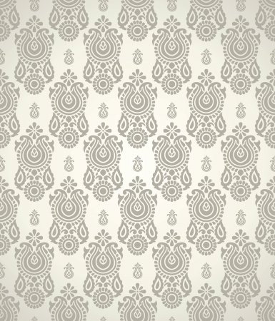 Seamless retro pattern and wallpaper Vector