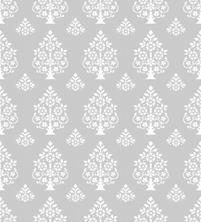 Seamless silver pattern and wallpaper Stock Vector - 16978196