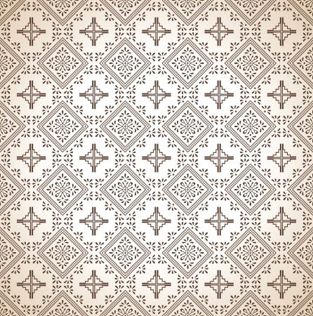 Brown seamless paisley wallpaper Stock Vector - 17009905