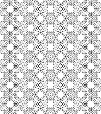 Seamless traditional pattern and wallpaper Vector