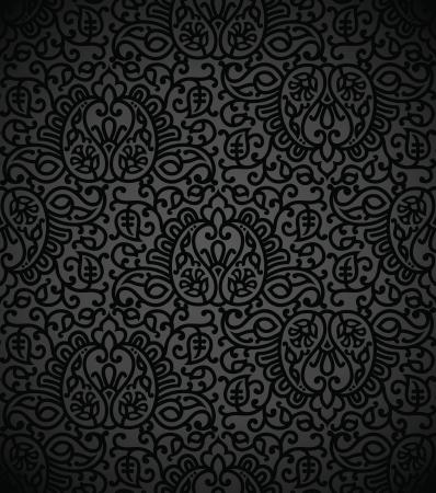 Seamless damask vector wallpaper Stock Vector - 17009915