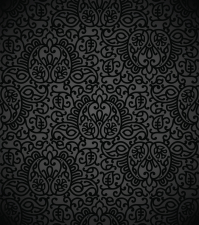 Seamless damask vector wallpaper Stock Vector - 17009915