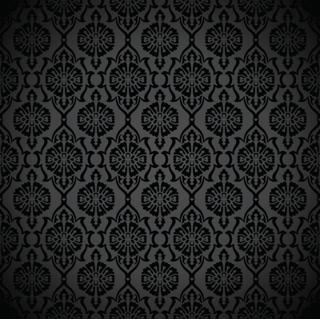 Seamless rich black wallpaper and background Stock Vector - 17009917