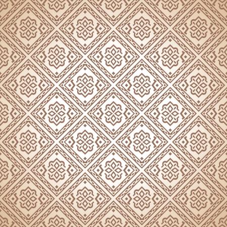 mustered: Seamless wallpaper design Illustration