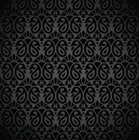 note book: Seamless nero nota di copertina del libro Vettoriali
