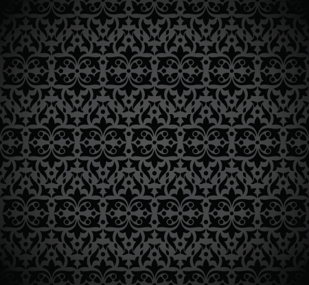 Seamless royal black wallpaper design Stock Vector - 17009913
