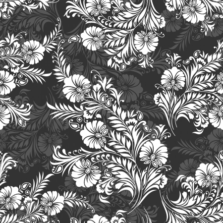 rococo: Seamless background for textile fabrics and cloths Illustration