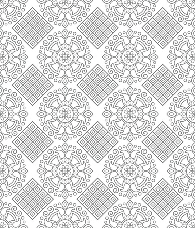 Seamless silver geometrical wallpaper Vector
