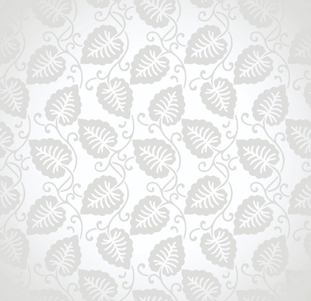 Seamless leaves background for wedding card Vector