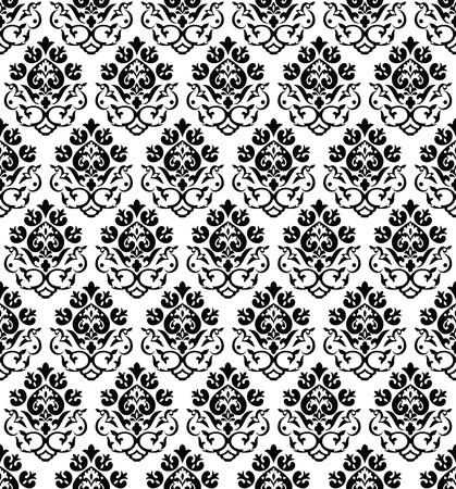 sem costura: Damasco seamless wallpaper Ilustra��o