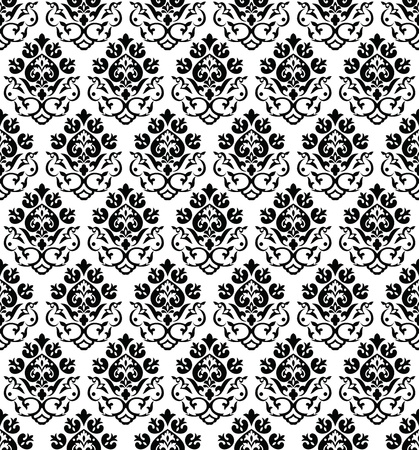 fancy floral wallpaper: Damask seamless wallpaper