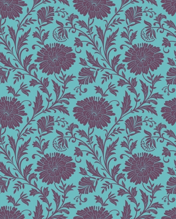 Seamless-Floral background for fabric Vector