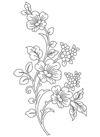 fashion design: Floral-Design element