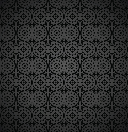 Seamless-Rich wallpaper in black Vector