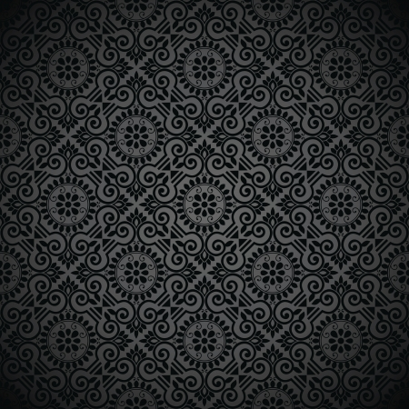 Royal seamless black wallpaper Vector