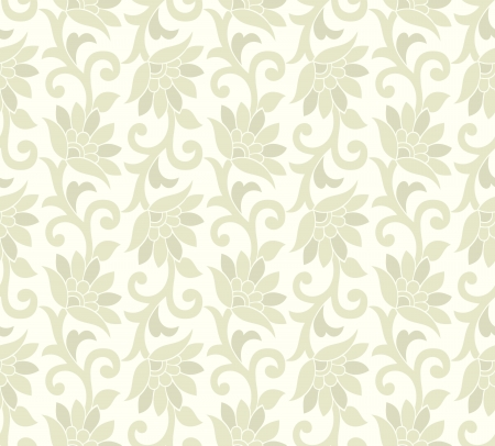 Floral seamless background and wallpaper Vector