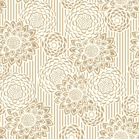 mustered: Seamless floral background and wallpaper Illustration
