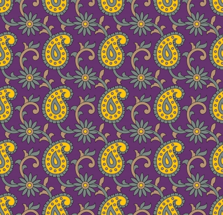 Seamless - Paisley background Vector