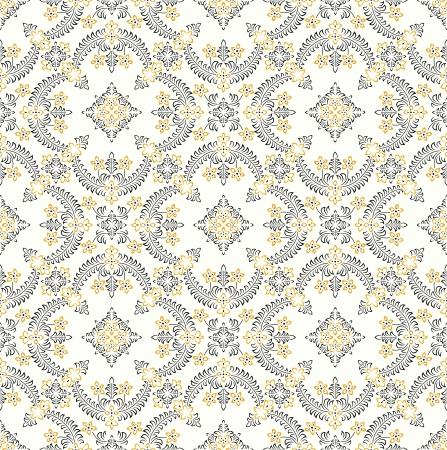 Seamless rich wallpaper Vector
