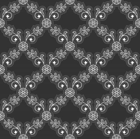 Seamless - Royal black wallpaper Illustration