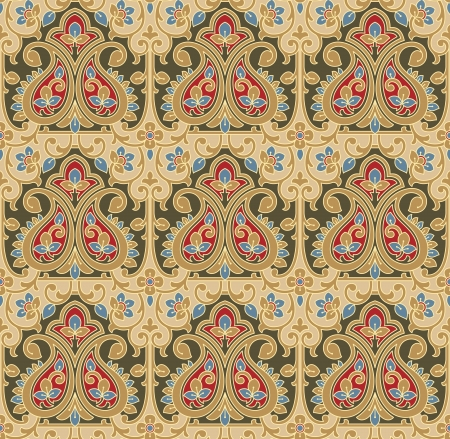 Seamless-Background for carpet and fabrics Vector