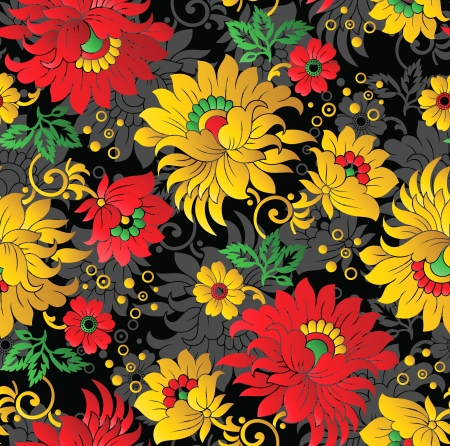 Seamless fancy floral background Vector