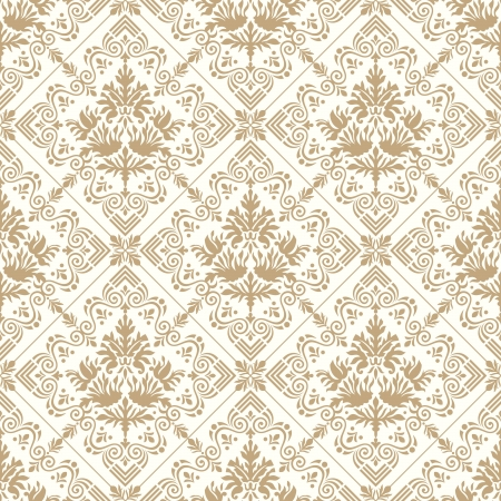 paisley background: Seamless royal golden wallpaper