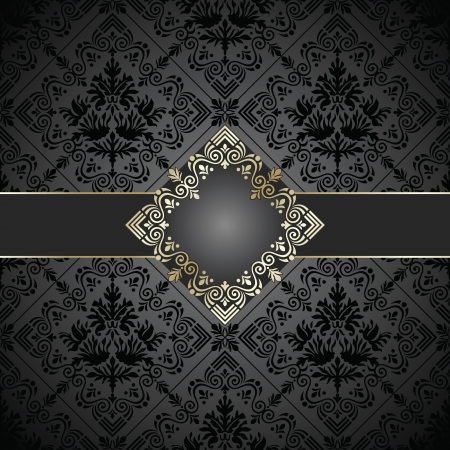 rich black wallpaper: Seamless royal note book cover and banner