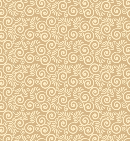 Seamless golden wedding card background Vector