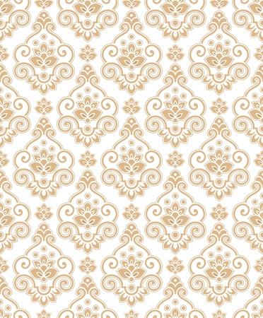 mustered: Papel pintado dorado tradicional Vectores