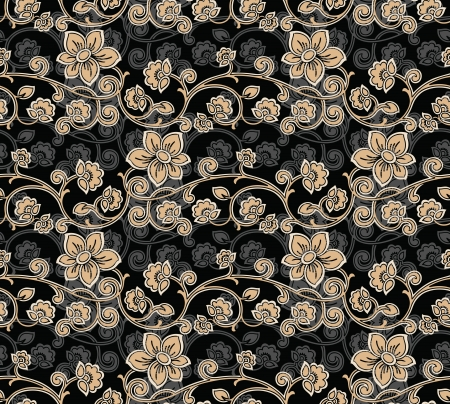 floral paisley: Seamless Floral-Background