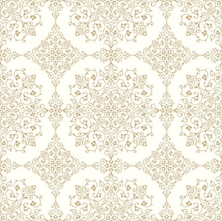 paisley background: Traditional seamless golden wallpaper Illustration