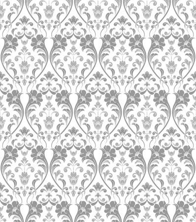 seamless damask: Fondos de escritorio tradicional de plata sin fisuras