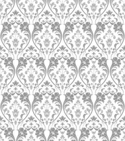 antique wallpaper: Traditional seamless silver wallpaper