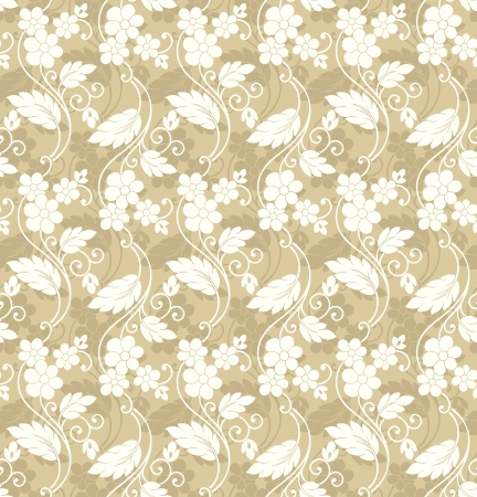 mustered: Seamless invitaci�n floral background