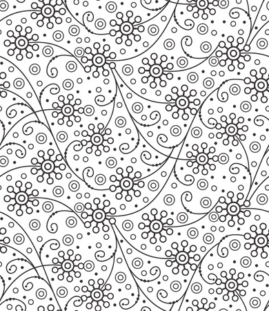 traditional silver wallpaper: Seamless vector floral background