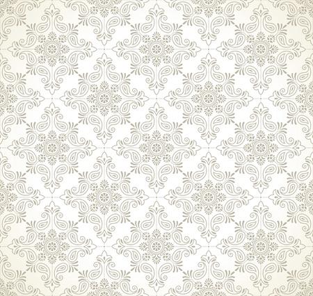 Seamless paisley wallpaper Vector